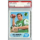 1968 Topps Football #65 Joe Namath PSA 7 (NM) *0603