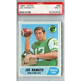 1968 Topps Football #65 Joe Namath PSA 7 (NM) *0603