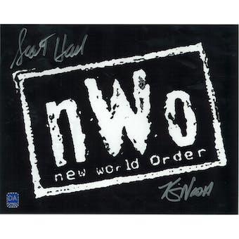 Scott Hall & Kevin Nash Autographed 8x10 NWO Photo (DACW COA)