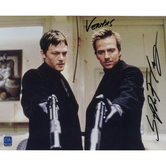 Sean Patrick Flannery Autographed 8x10 Boondock Saints Gun Photo (DACW COA)
