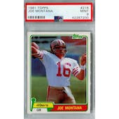 1981 Topps Football #216 Joe Montana RC PSA 9 (Mint) *7200