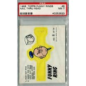 1966 Topps Funny Ring #8 Nail Thru Head PSA 7 (NM) *2623