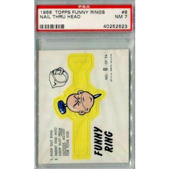 1966 Topps Funny Ring #8 Nail Thru Head PSA 7 (NM) *2623