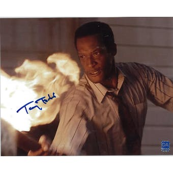 Tony Todd Autographed 8x10 Night of the Living Dead Fire Photo (DACW COA)