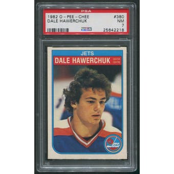 1982/83 O-Pee-Chee Hockey #380 Dale Hawerchuk Rookie PSA 7 (NM)