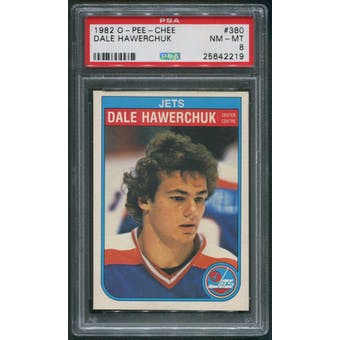 1982/83 O-Pee-Chee Hockey #380 Dale Hawerchuk Rookie PSA 8 (NM-MT)