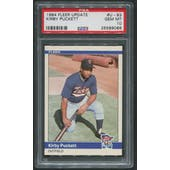 1984 Fleer Update Baseball #93 Kirby Puckett Rookie PSA 10 (GEM MT)