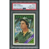 1988 Topps Baseball #344 Tony LaRussa Signed Auto PSA Authentic