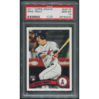 2011 Topps Update #US175 Mike Trout Rookie PSA 10 (GEM MT)