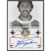 2014 Panini HOF 75th #23 Fergie Jenkins Red Auto #13/50