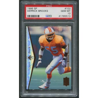 1995 SP Football #103 Derrick Brooks Rookie PSA 10 (GEM MT)