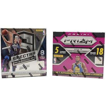 COMBO DEAL - 2018/19 Panini Basketball Hobby Box (Spectra, Prizm Fast Break)