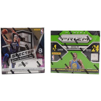 COMBO DEAL - 2018/19 Panini Basketball Hobby Box (Spectra, Prizm 24-Pack)