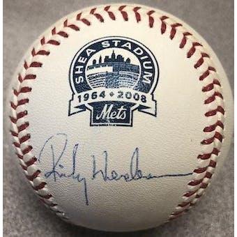 Rickey Henderson Autographed Signed Official Rawlings Final Season At Shea Baseball (Steiner)