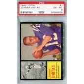 1962 Topps Football #1 Johnny Unitas PSA 6 (EX-MT) *6638