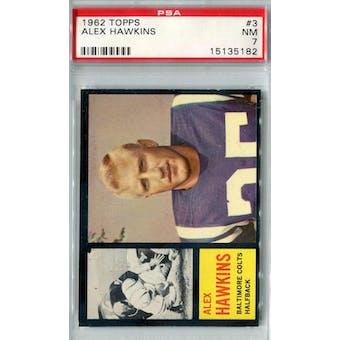 1962 Topps Football #3 Alex Hawkins SP PSA 7 (NM) *5182