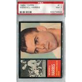 1962 Topps Football #11 Wendell Harris SP PSA 7 (NM) *9846