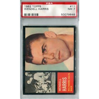 1962 Topps Football #11 Wendell Harris SP PSA 7 (NM) *9846 (Reed Buy)