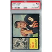 1962 Topps Football #13 Bill Wade SP PSA 8 (NM-MT) *9971