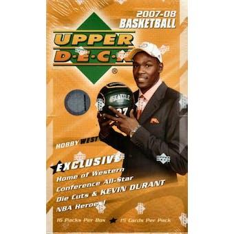 2007/08 Upper Deck Basketball West Hobby Box