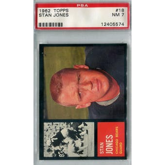 1962 Topps Football #18 Stan Jones PSA 7 (NM) *5574