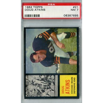 1962 Topps Football #21 Doug Atkins PSA 7 (NM) *7695