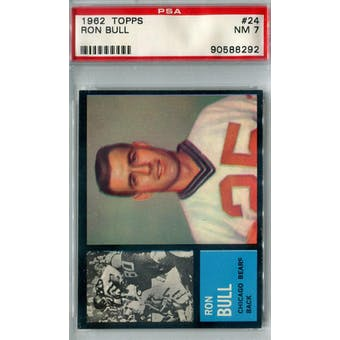 1962 Topps Football #24 Ron Bull SP PSA 7 (NM) *8292