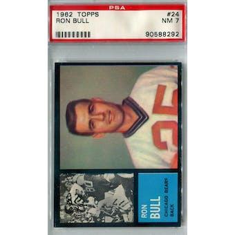 1962 Topps Football #24 Ron Bull SP PSA 7 (NM) *8292