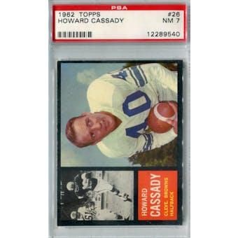 1962 Topps Football #26 Howard Cassady PSA 7 (NM) *9540