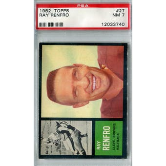 1962 Topps Football #27 Ray Renfro SP PSA 7 (NM) *3740