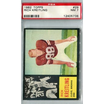 1962 Topps Football #29 Rich Kreitling PSA 7 (NM) *5738