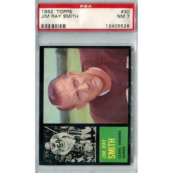 1962 Topps Football #30 Jim Ray Smith PSA 7 (NM) *5528