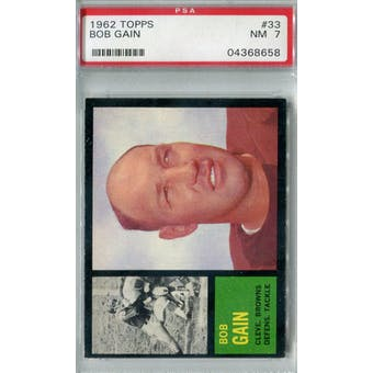 1962 Topps Football #33 Bob Gain PSA 7 (NM) *8658