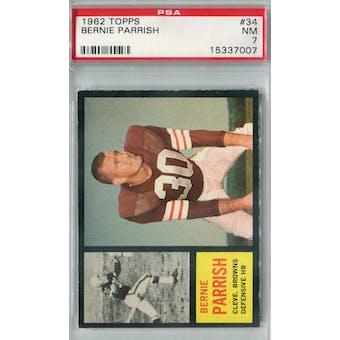 1962 Topps Football #34 Bernie Parrish PSA 7 (NM) *7007