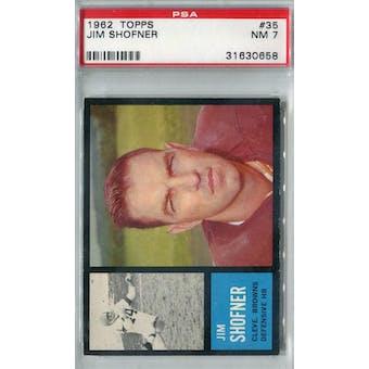 1962 Topps Football #35 Jim Shofner PSA 7 (NM) *0658