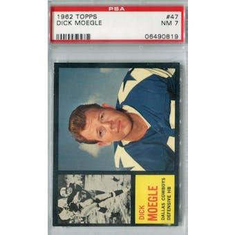 1962 Topps Football #47 Dick Moegle PSA 7 (NM) *0819