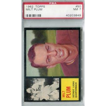 1962 Topps Football #50 Milt Plum PSA 7 (NM) *3849