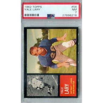 1962 Topps Football #56 Yale Lary PSA 7 (NM) *6218