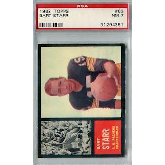1962 Topps Football #63 Bart Starr SP PSA 7 (NM) *4351
