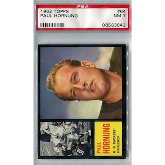 1962 Topps Football #64 Paul Hornung SP PSA 7 (NM) *3843
