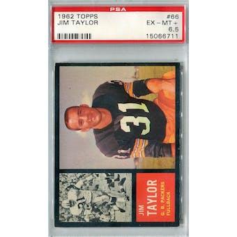 1962 Topps Football #66 Jim Taylor SP PSA 6.5 (EX-MT+) *6711