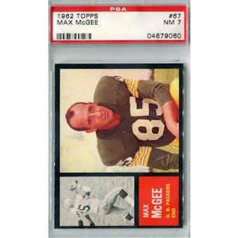 1962 Topps Football #67 Max McGee SP PSA 7 (NM) *9060