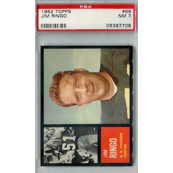 1962 Topps Football #68 Jim Ringo SP PSA 7 (NM) *7708