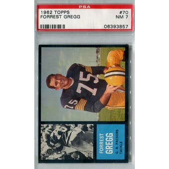 1962 Topps Football #70 Forrest Gregg PSA 7 (NM) *3857