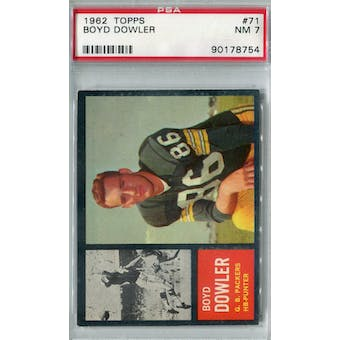 1962 Topps Football #71 Boyd Dowler PSA 7 (NM) *8754