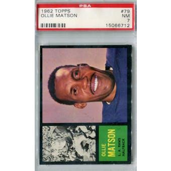 1962 Topps Football #79 Ollie Matson SP PSA 7 (NM) *6712
