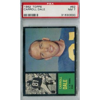 1962 Topps Football #82 Carroll Dale PSA 7 (NM) *0630