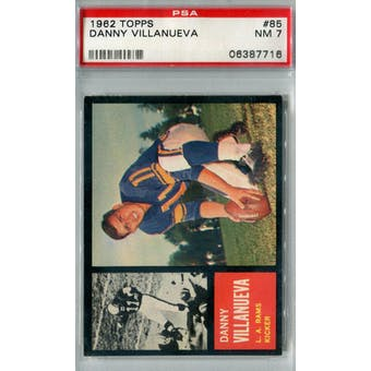 1962 Topps Football #85 Danny Villanueva PSA 7 (NM) *7716