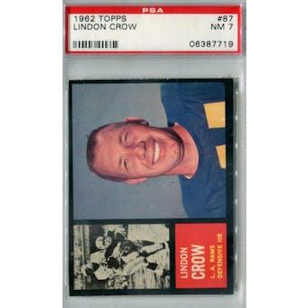 1962 Topps Football #87 Lindon Crow PSA 7 (NM) *7719
