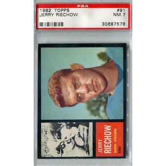1962 Topps Football #91 Jerry Riechow SP PSA 7 (NM) *7578